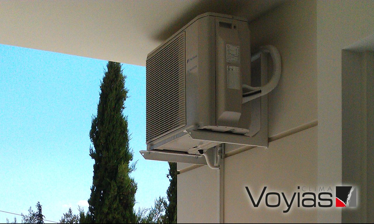 Εγκατάσταση εξωτερικής μονάδας κλιματιστικού σε μονοκατοικία